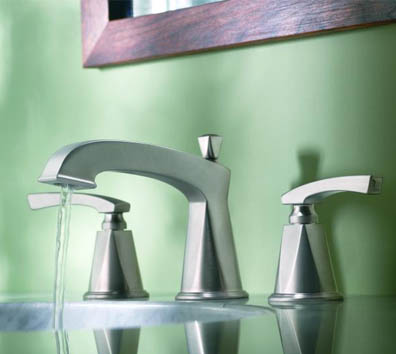 showhouse moen divine bathroom sink faucet Showhouse Bathroom and Kitchen faucets   new Moen Divine faucet collection