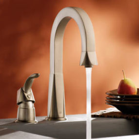 Showhouse Bathroom and Kitchen faucets – new Moen Divine faucet collection