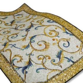 Tile Mosaic Rug from Sicis – new glass tile rugs Bisanzio