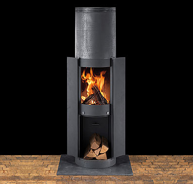 sikken stove premium 2 Wood Stove from Sikken   Swiss steel stove with no glass