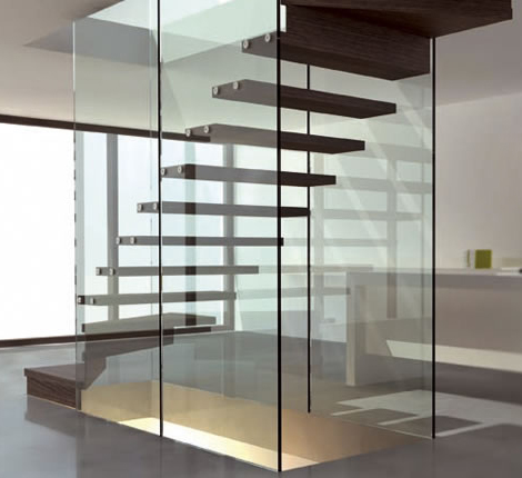 siller wood and glass staircases mistral 1 Wood and Glass Staircases   Mistral staircase design by Siller