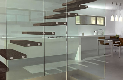 siller wood and glass staircases mistral 4 Wood and Glass Staircases   Mistral staircase design by Siller