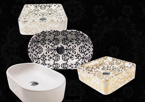 simas bathroom impronte 1 Decorated Bathroom Fixtures from Simas   Impronte bathroom fixture range