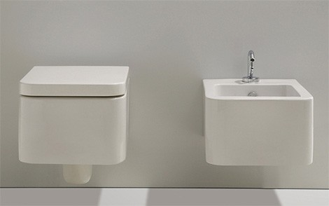 simas flow suspended bidet toilet Suspended Toilet and Bidet from Simas   new addition to the Flow bath collection