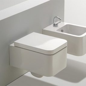 Suspended Toilet and Bidet from Simas – new addition to the Flow bath collection