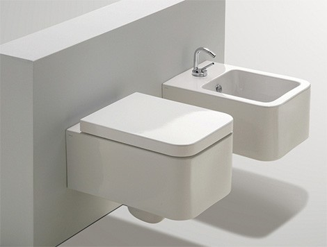 simas flow suspended toilet bidet Suspended Toilet and Bidet from Simas   new addition to the Flow bath collection