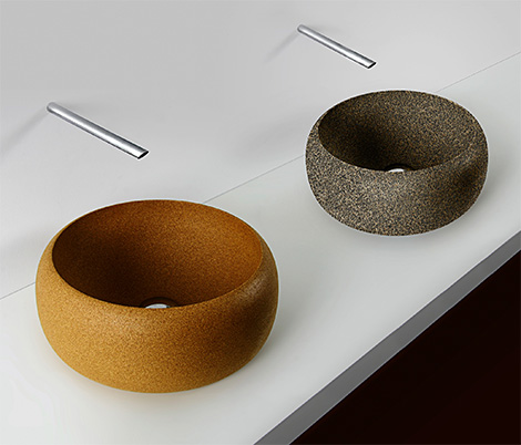 simple forms design cork vessels Cork Vessels and more intriguing bathroom items from Portugal…