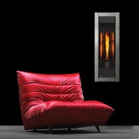 Direct vent gas fireplace Torch by Napoleon – modern single flame fireplace