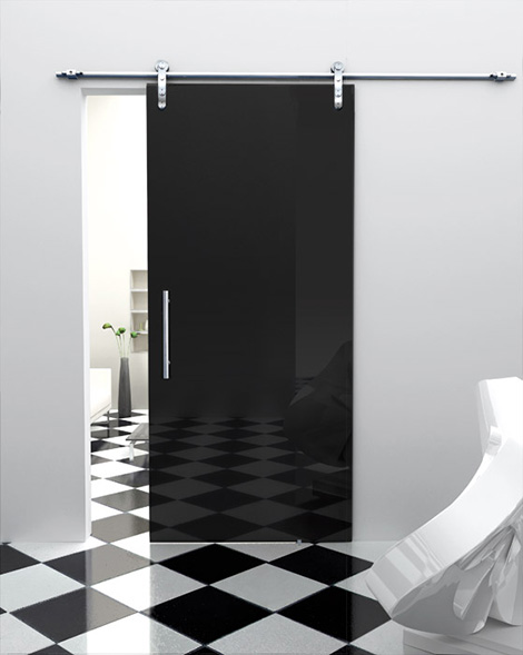 single sliding black door foaporte Sliding Glass Door from Foaporte   frosted glass doors