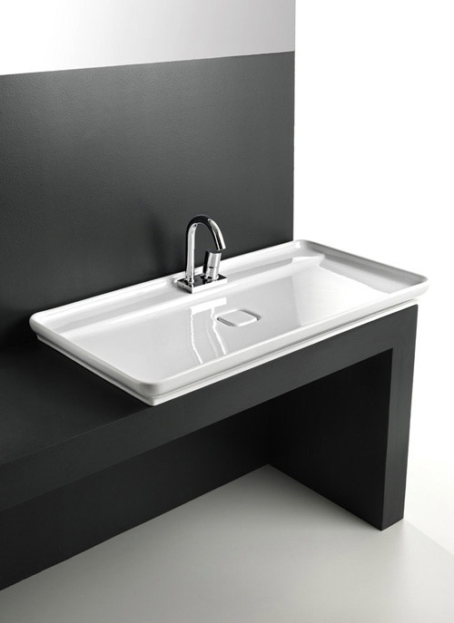 skinny bathroom sink artceram 2 Skinny Bathroom Sink by ArtCeram