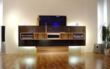 skloib wohndesign lift line multi media center tv
