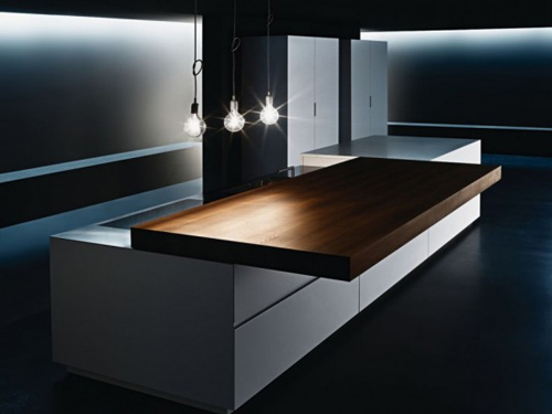 Sliding Kitchen Counter Design by Minimal