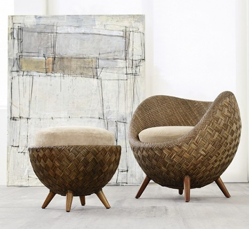 Small Comfortable Rattan Chair By Kenneth Cobonpue: La Luna