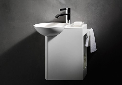 small sink with cabinet alape insert 1 Small Sink with Cabinet by Alape – Insert