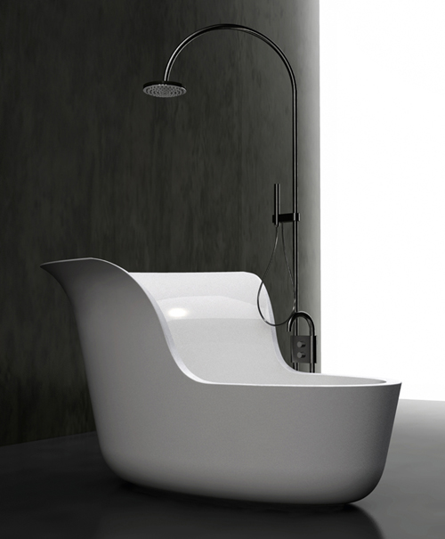 soaking tub with shower combo.  Small Soaking Tub Shower Combo by Marmorin
