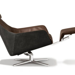 Smooth retro-style armchair from de Sede