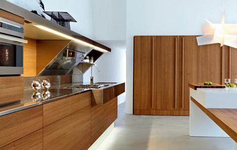 Snaidero Kube kitchen - long vertical handles