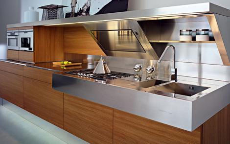 snaidero kitchen kube 3 Contemporary Italian Kitchen from Snaidero   the Kube