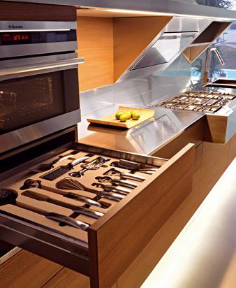 Snaidero Kube kitchen - drawers