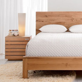 Solid Oak Bedroom Furniture from Crate & Barrel – the Elan bedroom furniture