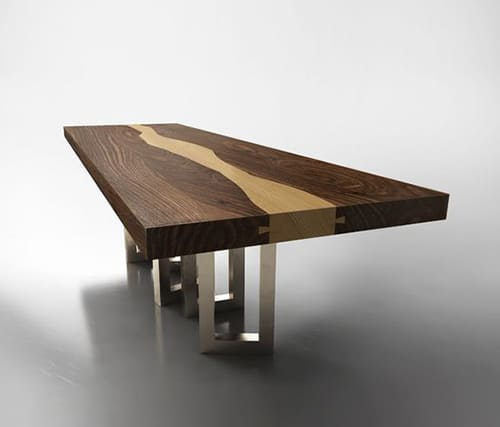 Solid Walnut Wood Table By IL Pezzo Mancante