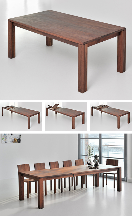 solid wood extending dining table vitamin design living 1 Solid Wood Extending Dining Table by Vitamin Design