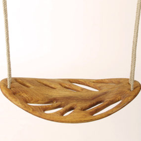 Solid Wood Swing by Veronica Martinez – Leaf