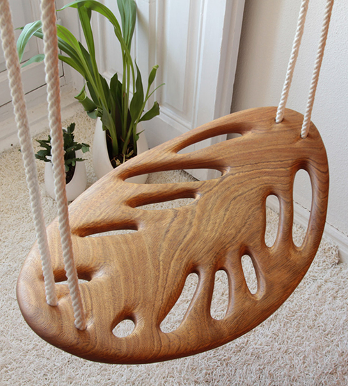 solid wood swing leaf veronica martinez enessentia 2 Solid Wood Swing by Veronica Martinez   Leaf