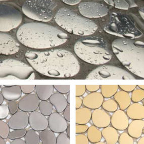 Metal Mosaic tiles by Solistone – the Freeform decorative metal mosaic