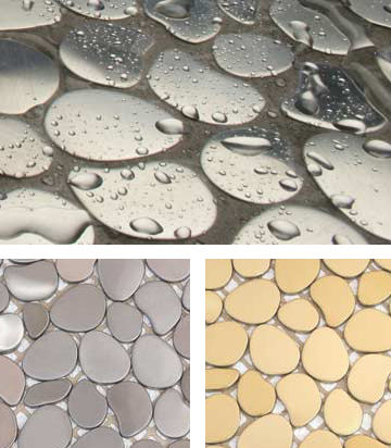 solistone metal mosaic tile Metal Mosaic tiles by Solistone   the Freeform decorative metal mosaic