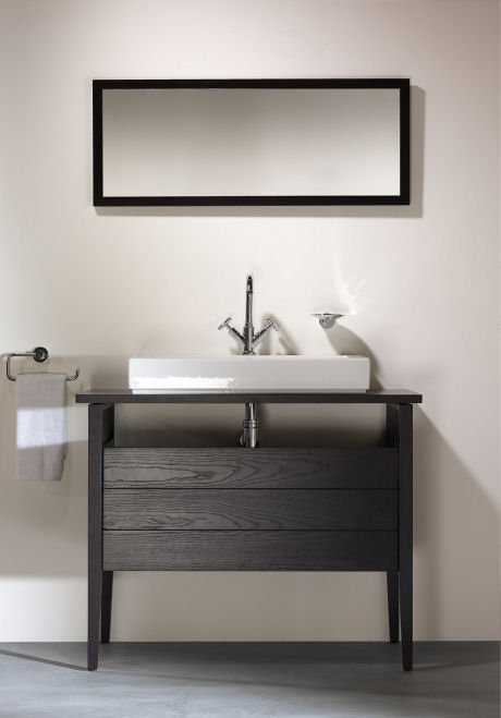 Contemporary bathroom furniture from sonia new vanities for Wenge bathroom mirror