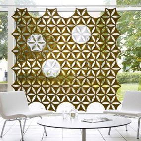 Sound Absorbing Screen – Airflake Wall Coverings by Abstracta also store magazines