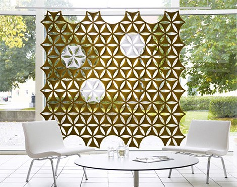 sound absorbing screen abstracta airflake Sound Absorbing Screen   Airflake Wall Coverings by Abstracta also store magazines