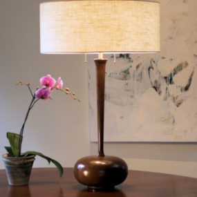 Modern designer lighting by Spaltana – the hand-turned Cherry Stem Table Lamp
