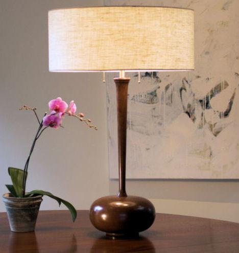 spaltana cherry stem table lamp Modern designer lighting by Spaltana   the hand turned Cherry Stem Table Lamp