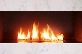 Ribbon direct vent fireplace by Spark Modern Fires – no flu or chimney