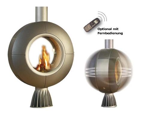 spartherm rotating fireplace diva Rotating Fireplace from Spartherm   Diva gas fireplace with remote control