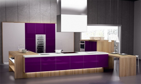 Purple Kitchens And Purple Kitchen Ideas By Spazzi