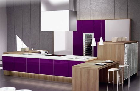 spazzi purple kitchens ideas 2 Purple Kitchens and Purple Kitchen Ideas by Spazzi