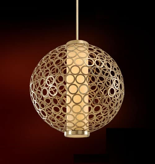 spherical pendant lamp corbett bangle 1 Spherical Pendant Lamp by Corbett   Bangle pendant