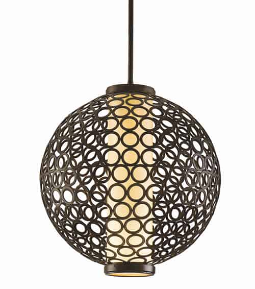 spherical pendant lamp corbett bangle 2 Spherical Pendant Lamp by Corbett   Bangle pendant