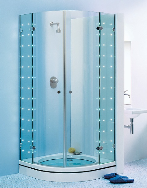 sprinter led shower enclosure sprinz sprinter light 1 LED shower enclosures from Sprinz   Sprinter S. Light frameless shower