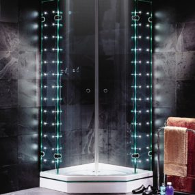LED shower enclosures from Sprinz – Sprinter S. Light frameless shower