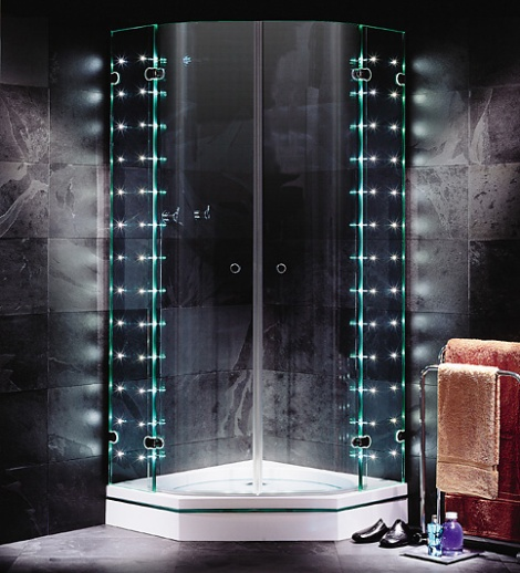 sprinter led shower enclosure sprinz sprinter light LED shower enclosures from Sprinz   Sprinter S. Light frameless shower