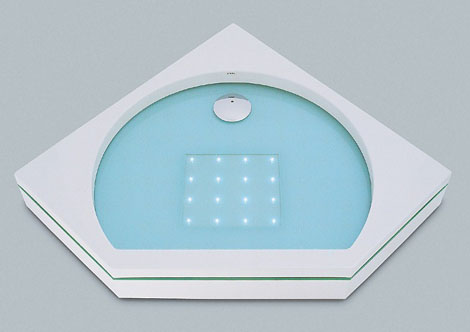 sprinz shower tray element s light 2 LED Lighted Shower Tray by Sprinz