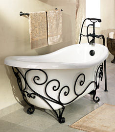 st thomas creations new orleans tub Orleans Wrought Iron Tub from St. Thomas Creations