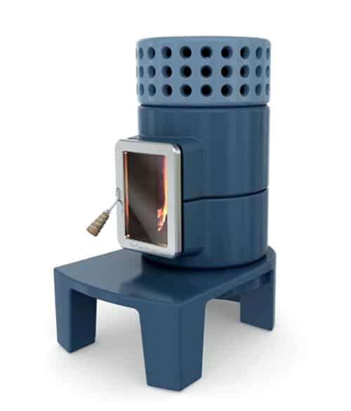 stack stove collection adriano design 2 Stylish Wood Stoves   innovative stove design Stack