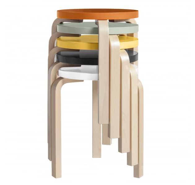 stackable birch stool 60 by artek 2 Stackable Birch Stool 60 by Artek   Design Classics