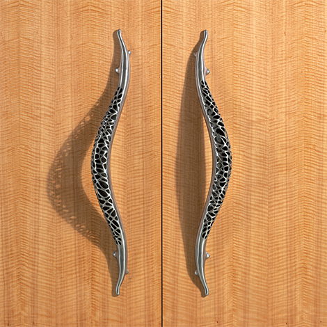 stainless steel door knobs pulls martin pierce morphic 2 Stainless Steel Door Knobs and Pulls by Martin Pierce   new Morphic luxury organic hardware designs