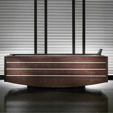 starpool nuvola whirlpool spa bath wood design Whirlpool Spa Bath from Starpool   Nuvola bath